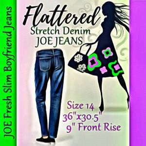 JOE Fresh Slim Boyfriend Jeans Size 14 Waist 36